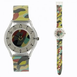 MONTRE PLATE CAMOUFLAGE